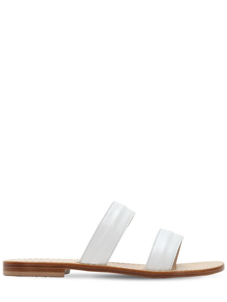 CAPRI POSITANO 10mm Salaria Leather Sandals in white