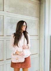 bohostylefile,blogger,top,skirt,bag,sunglasses,jewels,gucci bag,button up skirt