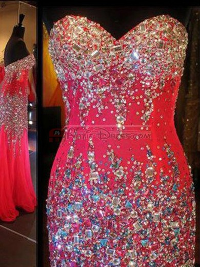 Red Rhinestone Dress