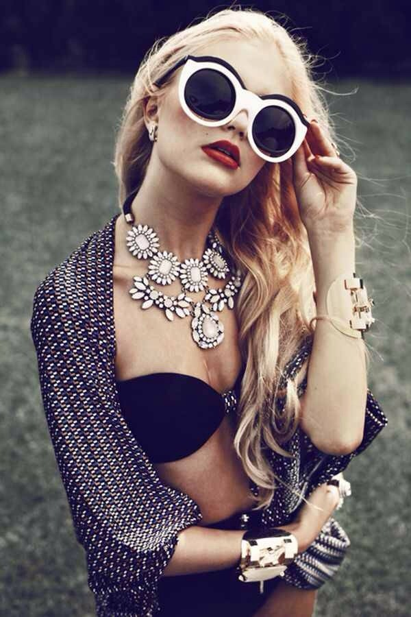 jewels sunglasses shirt edgy