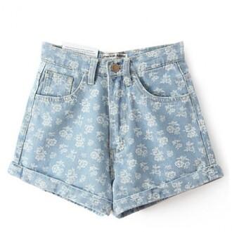 shorts denim summer fashion jeans style cute spring blue boogzel