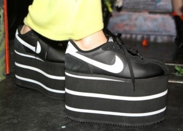 shoes, nike, platform shoes, flatform