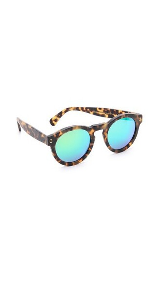 matte sunglasses mirrored sunglasses green
