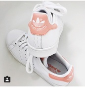 shoes,stan smith,style,love,adidas,white,rose,pink,tumbr,adidas shoes,adidas originals,nude pink stan smiths,beige stan smith adidas