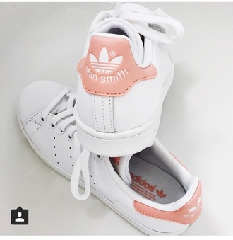 shoes stan smith style love adidas white rose pink tumbr adidas shoes adidas originals nude pink stan smiths beige stan smith adidas
