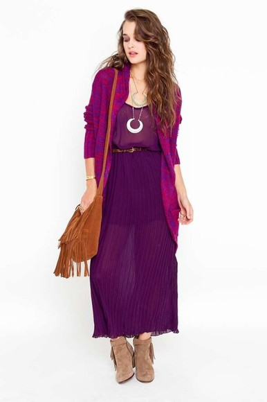 dress pleated dress pleated chiffon bohemian bohemian style bohemian dress boho gypsy jewels bag sweater shoes