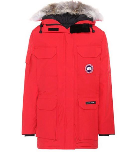 canada goose parka red coat