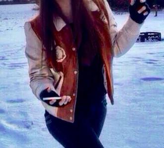 jacket coat caramel winter clothes