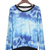 Blue Print Top - Galaxy Print Pullover Sweatshirt  S009860 | UsTrendy
