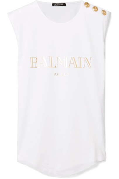 top embellished white cotton