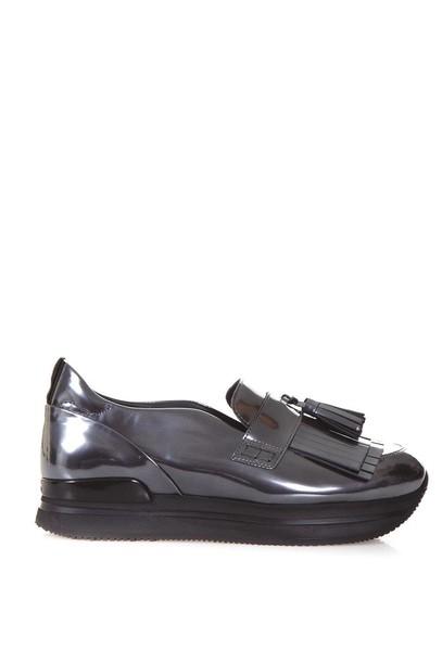 Hogan metallic sneakers leather shoes