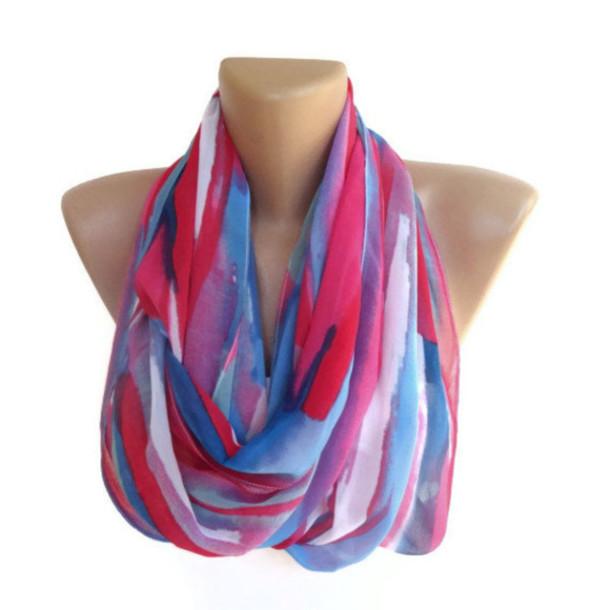 Women/'s Spring summer Fashion Stripe Infinity loop Scarf New