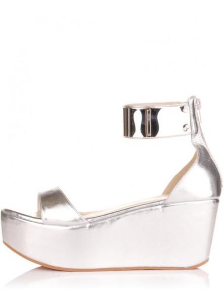 metallic sandals flatforms high heels cool new flatform sandals