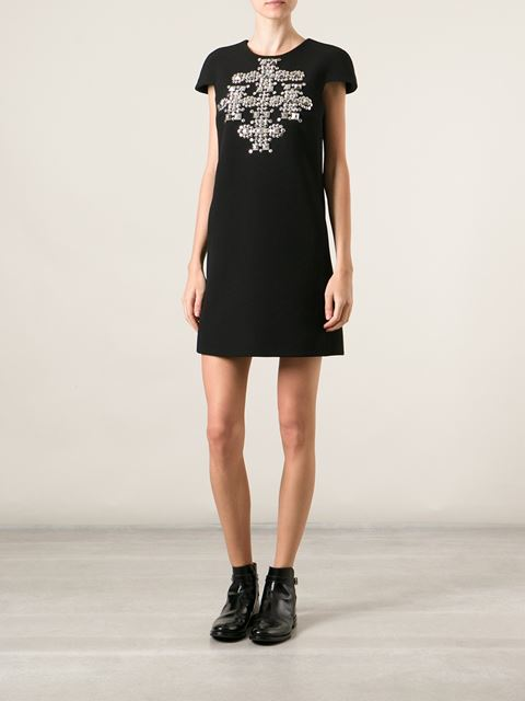 Saint laurent studded cross mini dress