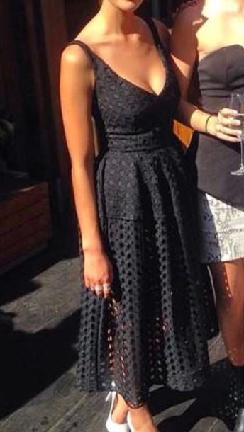 dress black dress elegant dress
