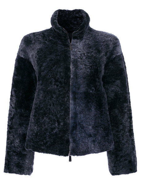 DROME jacket fur jacket fur women blue