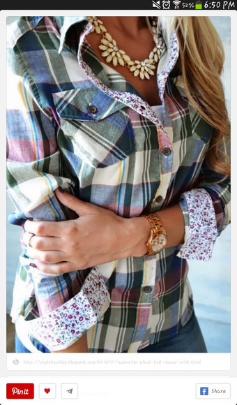 long sleeves flannel shirt