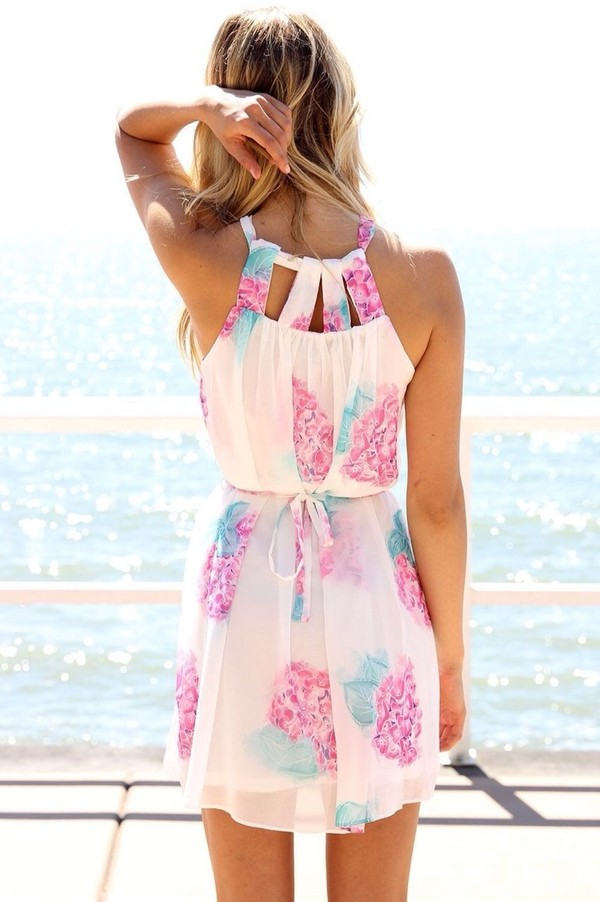 dress beach dress colorful white trendy white dress colorful dress floral orchid pink summer dress cute dress flowers lovely spring dress hydrangea florals white floral short dress blue summer pretty white floral dress floraldress spring outfits pink dress pastel tanktopdress bright short style blue dress green dress fashion floral dress hot tank top see through dress flowy dress floral dress cut-out stylish gorgeous