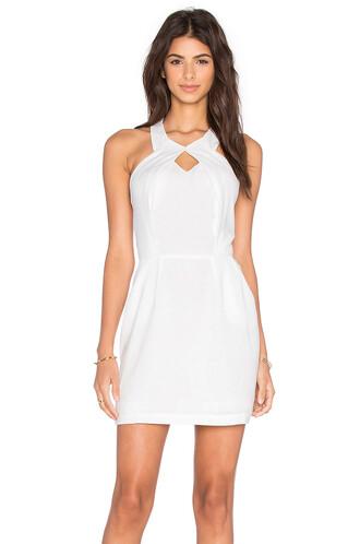 dress halter dress black white