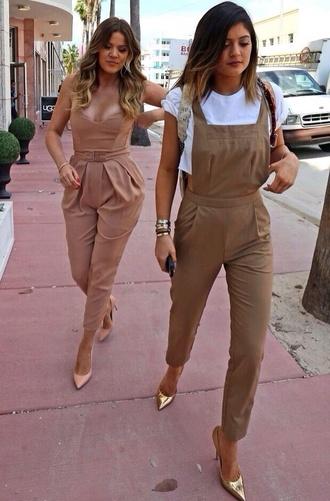pants kylie jenner khloe kardashian jumpsuit classy kardashians jeans