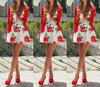 dress floral dress white dress short dress
