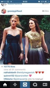 dress,gossipgirl blair,blue dress,black dress