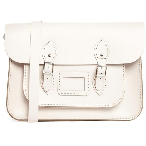 The leather satchel company 14'' cloud cream satchel