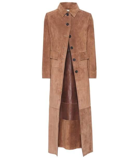 coat acne studios suede camel long coat long coat vintage
