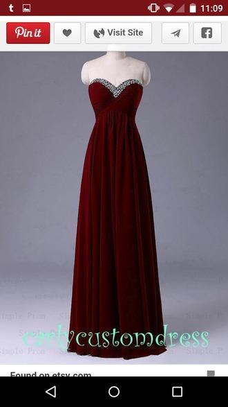 dress dresses evening dresses long dresses maxis prom dress prom prom gown wine color beading burgundy dresses