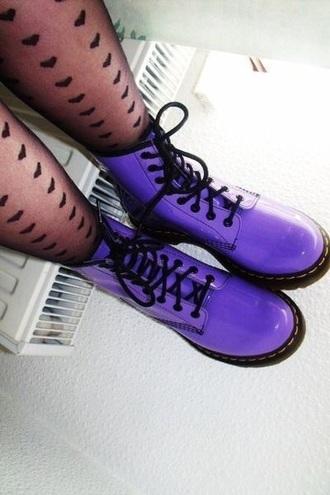 shoes drmartens boots purple heart legging