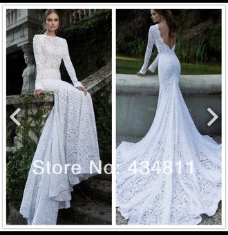dress wedding dress white lace backless wedding dress white lace wedding dress