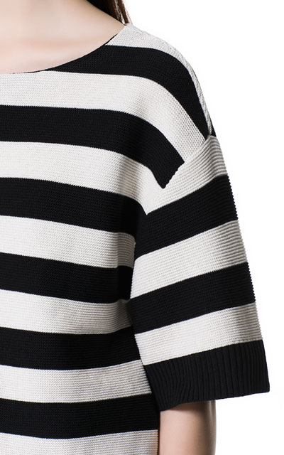 Zara New Wide Striped Sweater Top Size M Sold Out | eBay
