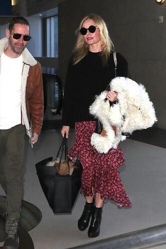 skirt midi skirt ankle boots kate bosworth sweater fall outfits
