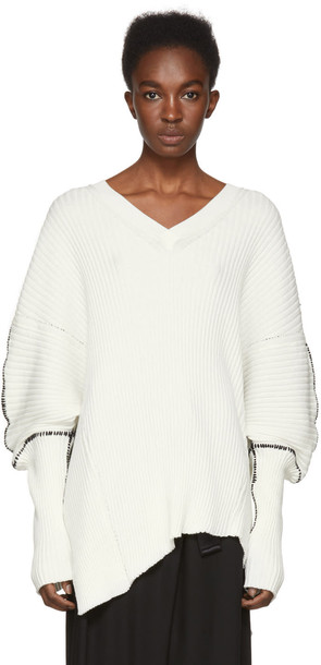 ANN DEMEULEMEESTER sweater white off-white