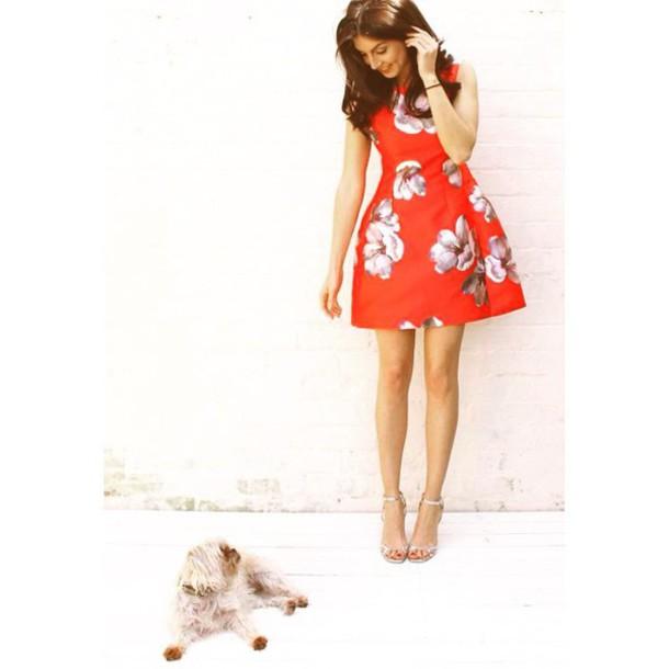 Zara Tulip Dress Zara Dress Floral Red