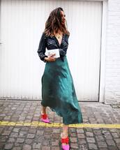 shoes,mules,pink mules,skirt,top,crop top jacket,sunglasses