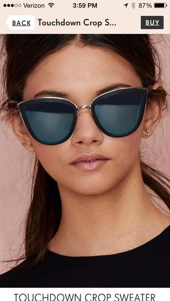 sunglasses cat eye nastygal dark blue