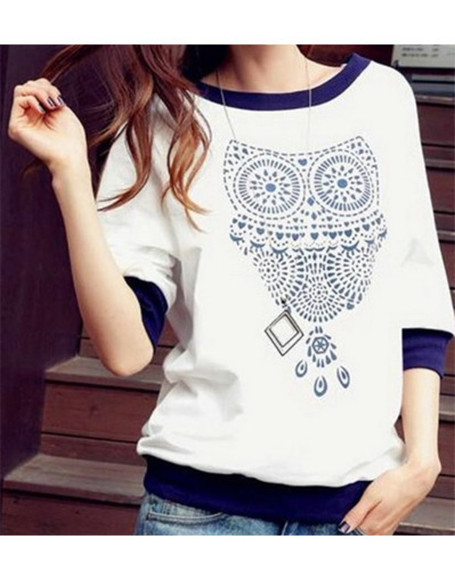 owl fashion sweater navy sweater wow
