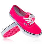 Vans - U Authentic (Neon) - Pink/True White · TwoTip