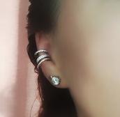 jewels,ear cuff,rose gold ring,rose gold,earrings,ear piercings,boho,jewellery stores