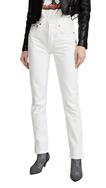 Re/Done jeans straight jeans high white