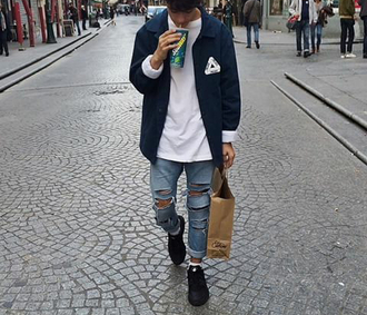 jacket supreme jacket supreme tumblr outfit tumblr jacket instagramfashion instagram