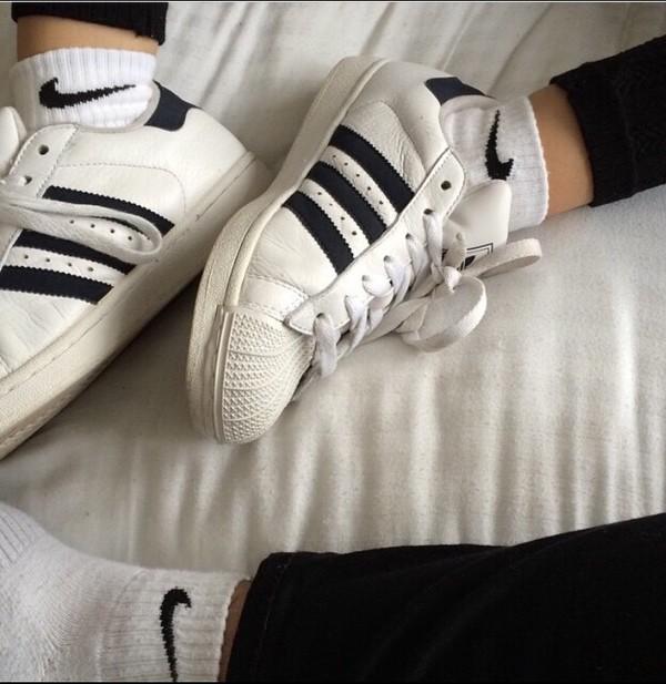 adidas quarter socks. socks: black and white, pants, nike, adidas superstars, shoes, adidas, black, pants - wheretoget quarter socks