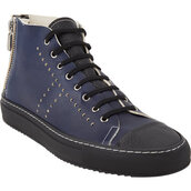 shoes,rocco p.,two-tone high-top sneakers,high-top sneakers,sneakers