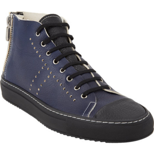 shoes rocco p. two-tone high-top sneakers high-top sneakers sneakers