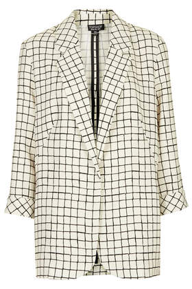 Window Check Jacket - Topshop USA