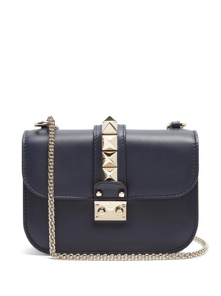 Valentino bag shoulder bag leather navy
