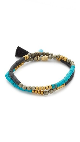 gold black turquoise jewels