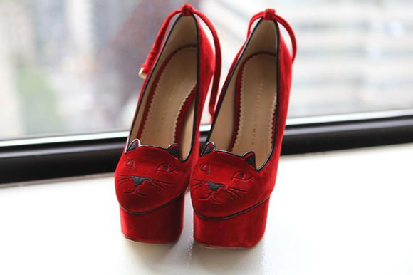 shoes high heels cats velvet