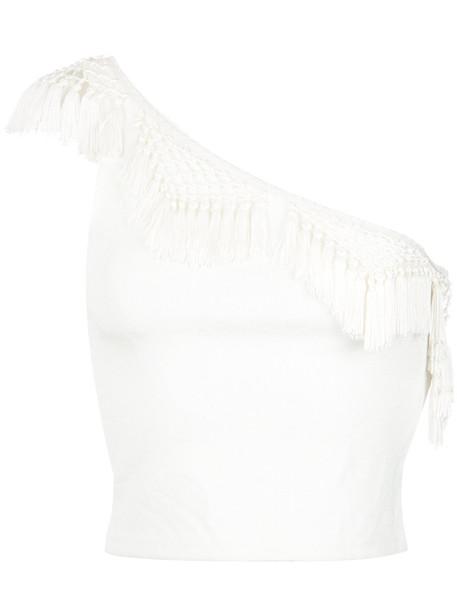 MARTHA MEDEIROS top women spandex white